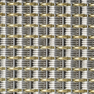 Brass And Stainless Steel Evevator Fabric TAC-43-1